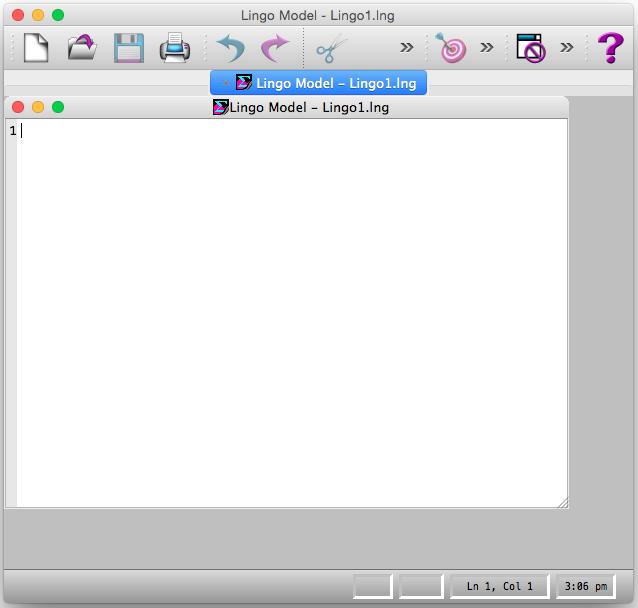 Starting LINGO on a Mac