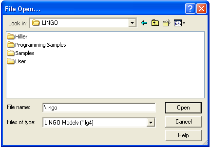 how to solve a model using lingo